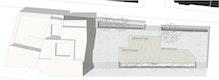 Platzgestaltung mit temporärer Holzstruktur M 1:200
