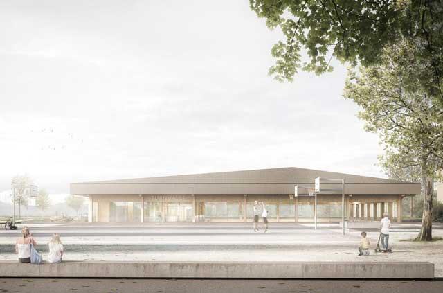 Neubau Turnhalle Dorfmatt mit Tagesschule in Bätterkinden (CH)