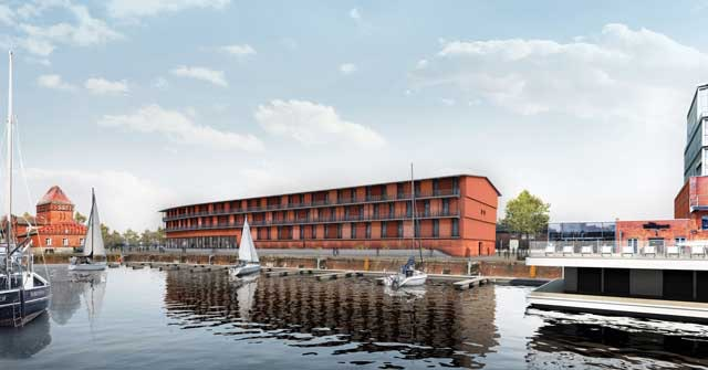 Neubau eines Hotels auf der Nördlichen Wallhalbinsel in Lübeck