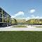 Die Rems-Murr-Kliniken formieren sich als ein städtebauliches Ensemble, bestehend aus 5 Pavillons, um eine Piazza