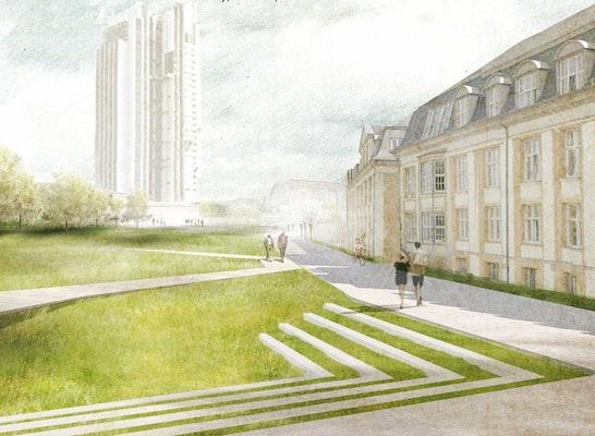 1. Preis Zuschlag: Marseiller Straße wird zur Marseiller Esplanade, © POLA
