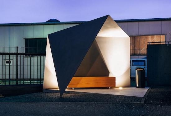 Auszeichnung: Raucherunterstand Euronics GmbH & Co. KG, Tuttlingen, Muffler Architekten, © Muffler Architekten BDA/DWB