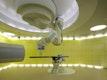 Ziel dieses Konzeptes ist die Bedrängnis des Patienten, die ihm während der Bestrahlung in den massiven und hermetisch abgeschlossenen Betonbunkern widerfährt, möglichst gut zu lindern © Stefan Müller-Naumann