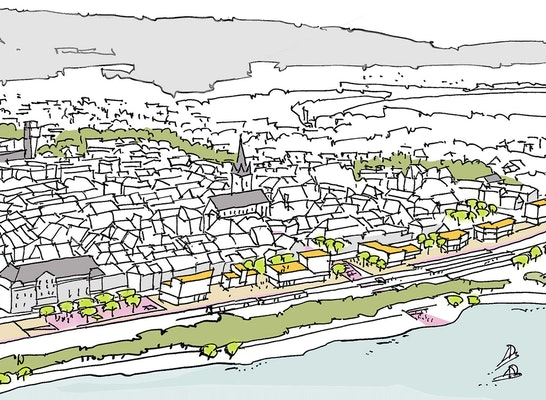 1. Preis: Perspektive, © bb22 architekten + stadtplaner PartG mbB