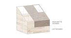 Prinzip-Skizze  Maisonettewohnen - Loftwohnen