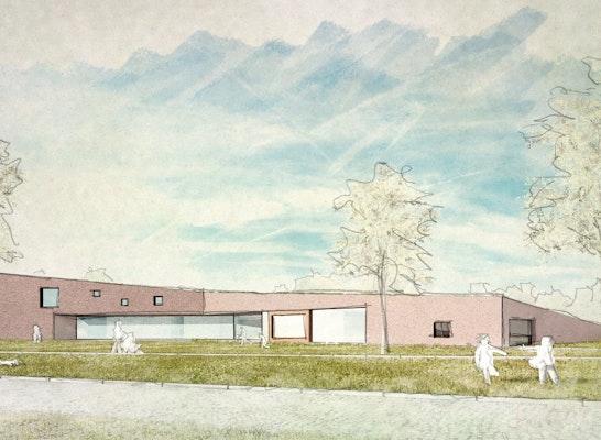 3. Preis Wettbewerb Kinderhaus Edingen, Entwurf Stocker Dewes Architekten, Visualisierung LINK3D Freiburg