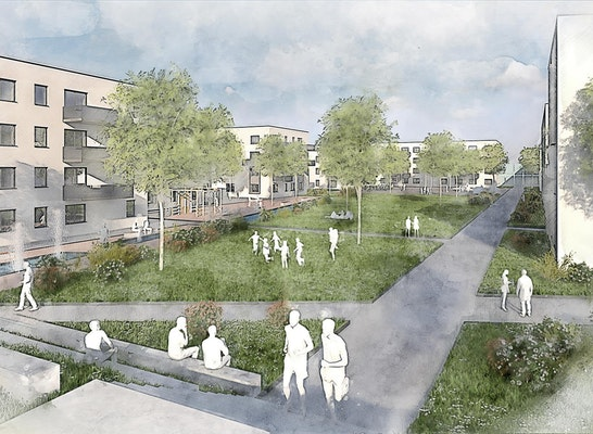 1. Rang: © Barton S-ASS Architekten GmbH   S-ASS Architekten + Ingenieure / FSP Stadtplanung / faktorgruen / LINK 3D