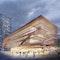 Erweiterungsbau des Theaterhauses mit Holzmembran