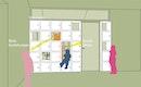 Möbel als Trennung zwischen den Zimmern