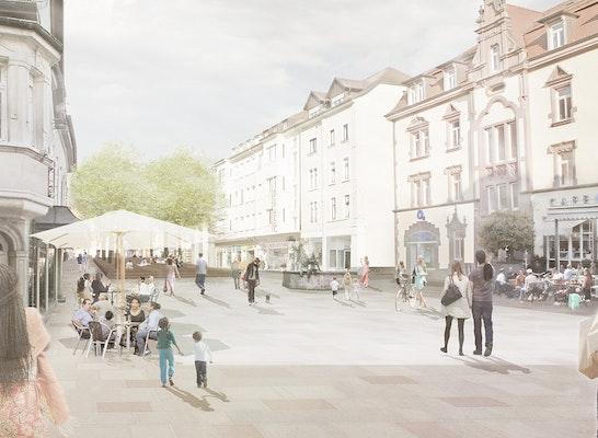 Perspektivische Darstellung Lindenplatz