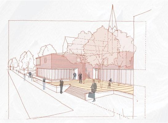 1. Preis: Blick von der Ludwigsburger Straße, © BKT Architekten