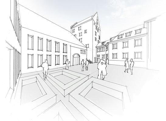 1. Preis: Neubau im historischen Ensemble, © Braunger Wörtz Architekten, silands   Gresz + Kaiser Landschaftsarchitekten PartG mbB