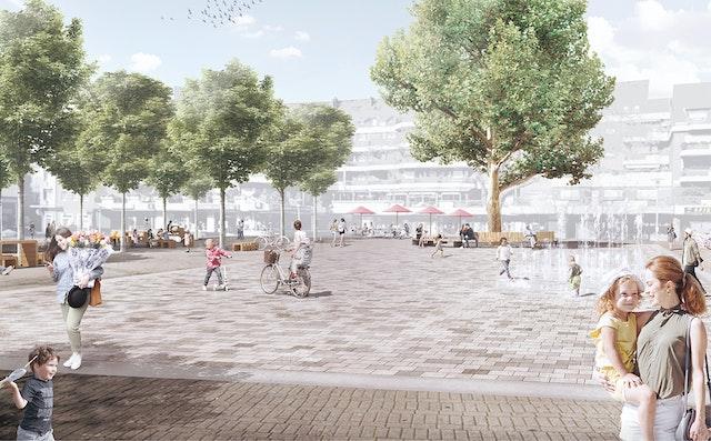 Gestaltung der öffentlichen Räume in der Sterkrader Innenstadt in Oberhausen