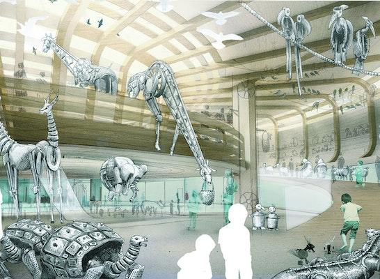 Arche Noah Innenraumperspektive, Olson Kundig