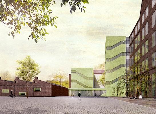 1. Preis: Neuer Eingangsbereich von der Dosse, © NAK Architekten