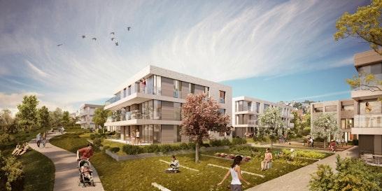Quartiersplatz und Landschaftskante
