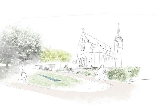 Gemeindegarten, Bllick auf den Pavillon
