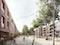 Buchholzer Grün -  Blick auf den Anger nach Norden mit Geschosswohnungsbau und Reihenhäuser