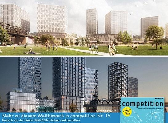 ein 1. Preis: Zwei 1. Preise - oben: O&O Baukunst; unten: COBE Berlin
