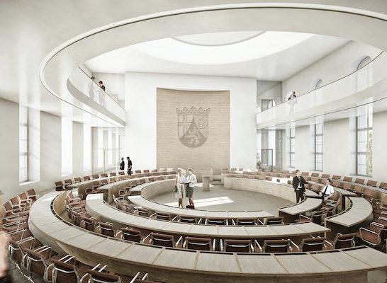 1. Preis: Plenarsaal, © sander.hofrichter architekten GmbH