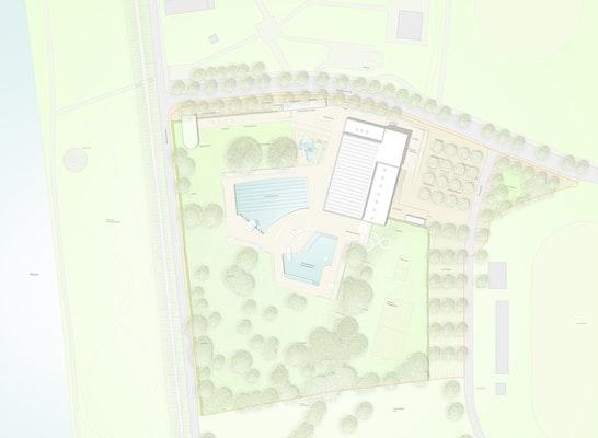 1. Preis: Lageplan, © Arnke Häntsch Mattmüller AHM Architekten, Pfrommer und Roeder Landschaftsarchitekten