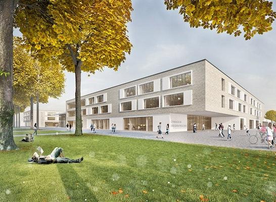 1. Preis Zuschlag: Schulstandort Dresden-Pieschen, © ppp architekten gmbh Lübeck | C&E Chemnitz | ibb Chemnitz | arbos Hamburg | on3studio