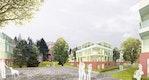 1. Preis: Perspektive mit Blickrichtung Wasserturm - Wiggenhorn & van den Hövel Landschaftsarchitekten