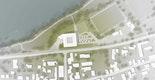 Die Lage des Neubaus an der Donau und am Rande des Campus