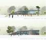 Sporthalle / Vereinsheim / Schwimmbad Ansicht Süd © BLK2 Architekten