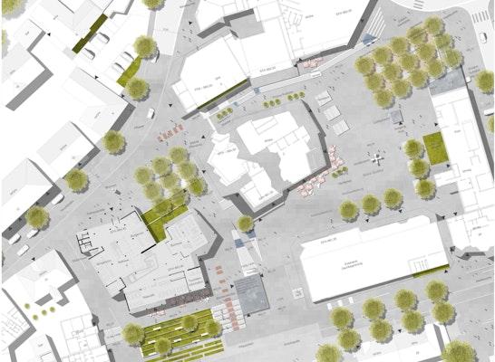 1. Preis: Lageplan 1:200, © K9 Architekten