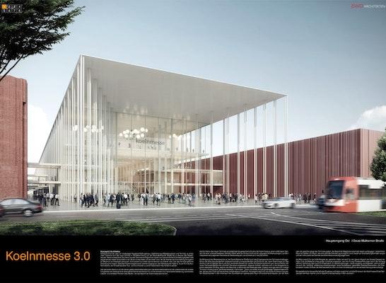1. Preis Nach Überarbeitung: Eingang Ost, © JSWD Architekten / rendertaxi