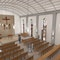 Blick von der Empore in den Kirchraum