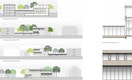 Schnitt/Ansichten Sporthalle und Erweiterung ASS