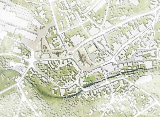 Lageplan M1 1:1000