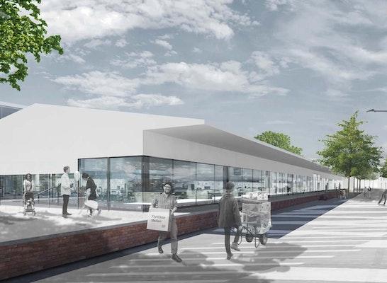 Gewinner Zur Überarbeitung aufgefordert Östliches Gebiet: Stadtplatz an der ehemaligen Güterhalle der Güterbahnhofs, © trint + kreuder d.n.a.