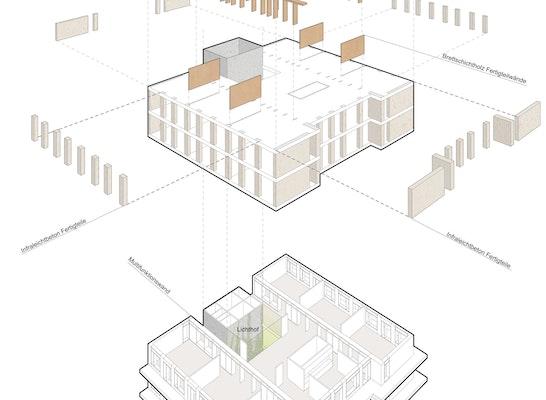 Explosionszeichnung der Konstruktion