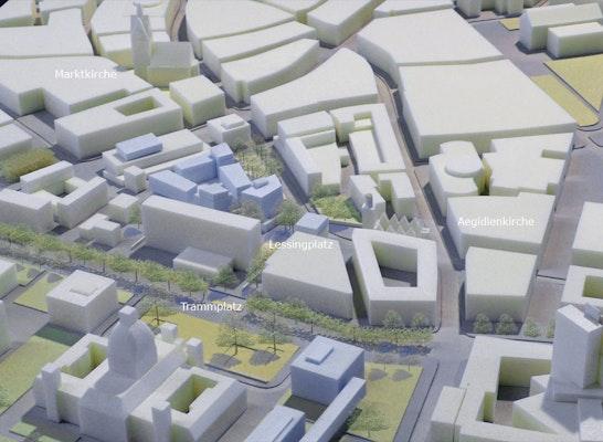 Köbelinger Quartier und Lessingplatz als Gelenk zwischen Innenstadt und Trammplatz