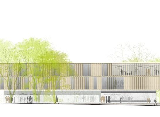 1. Preis Zuschlag: Ansicht Nordwest, © h4a Architekten