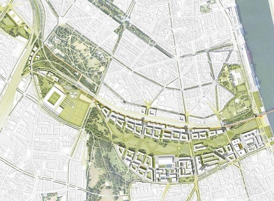 Parkstadt Süd Lageplan
