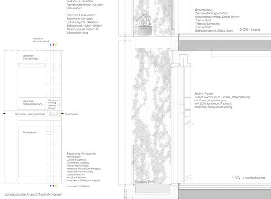 Fassadenschnitt des Projektes