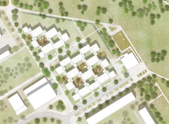 1. Preis: Lageplan, © Therese Strohe Michael Ullrich Architekten | Klöpfel Koenig Architektenpartnerschaft mbB | JUCA