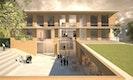 3D-Visualisierung / Wettbewerbsperspektive Neubau Rossert-Grundschule für Harter Kanzler Architekten, Freiburg (3.Preis)