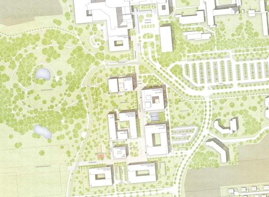 1. Preis: Lageplan, © BHBVT Gesellschaft von Architekten
