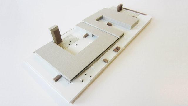Wettbewerb Feuerwehr + Bauhof Metzingen - Modell - dasch zürn architekten
