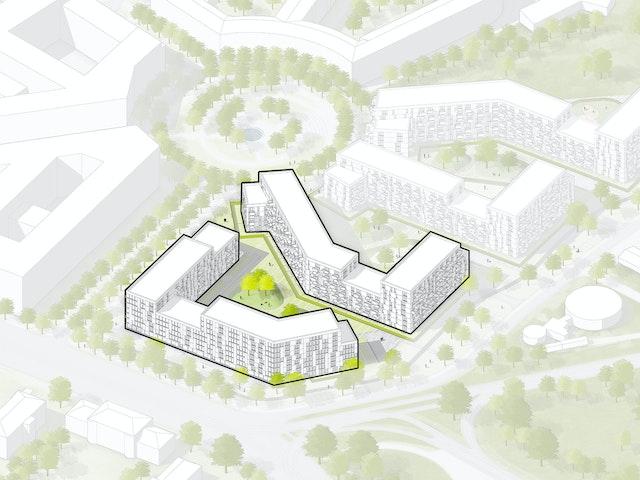 Architektenleistung LPH 2-5, südliches Oberwiesenfeld 1. BA