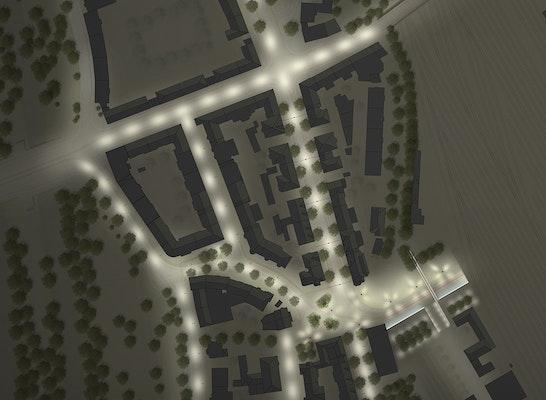 Nachtplan Vorplatz West