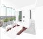 Perspektive Wohnbereich mit Fassadengarten