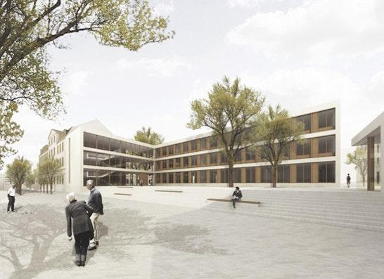 Campus Goethe-Gymnasium/Rutheneum Gera: schulz & schulz Leipzig, Perspektive Campusplatz