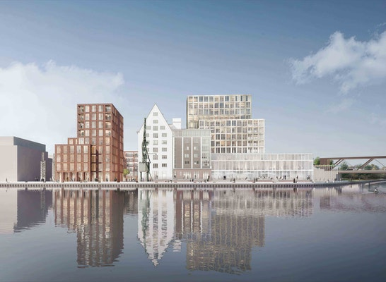 Gewinner Nach Überarbeitung: Blick vom Stadthafen aus, © Kleihues + Kleihues, Gesellschaft von Architekten