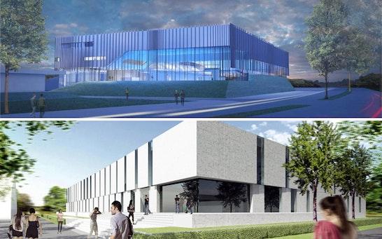 ein 1. Preis: Zwei 1. Preise - oben: Kubus360, Dr. Krieger Architekten + Ingenieure GmbH & Co. KG, Riehle + Assoziierte Architekten und Stadtplaner; unten: Kauffmann Theilig & Partner Freie Architekten BDA